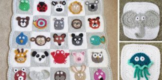 Háčkované deky so zvieratkami pre deti | Praktický, náučný a hravý darček