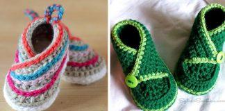 Kimono topánočky pre deti | Háčkované a pletené nápady a návod