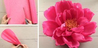 Obrovský kvet z krepového papiera | Kreatívny DIY nápad a návod