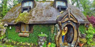 Fanúšik Pána prsteňov si postavil svoj vlastný Hobití domček