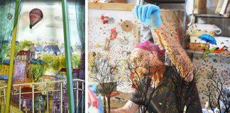 3D maľovanie na sklo |Maľby výnimočné ilúziou pohybu | Jean-Pierre Weill