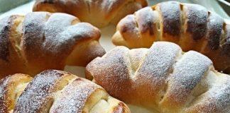 Recept na rýchle kysnuté rohlíčky plnené vanilkovým pudingom