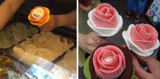 Rozkvitnutá zmrzlina v podobe ruže   Nápady, návody, inšpirácie