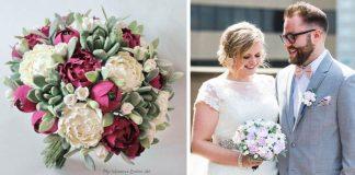 Svadobné kytice z polymérovej hmoty, ktoré nikdy nezvädnú
