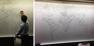 11-ročný chlapec trpiaci autizmom nakreslí detailnú mapu sveta spamäti