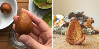 Kôstky z avokáda nevyhadzuje! Vyrezáva z nich malé čarovné sochy