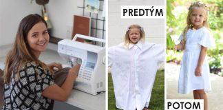 Šaty pre dcérku zo starých manželových košieľ | Kreatívny DIY nápad