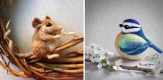 Roztomilé plstené zvieratá, ktoré vás očaria | The Lady Moth