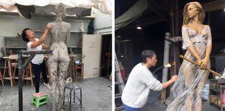 Sochy žien v renesančnom štýle tvorí Luo Li Rong v životnej veľkosti