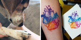 Tetovania odtlačkov labiek psích miláčikov | Nápady na tetovanie