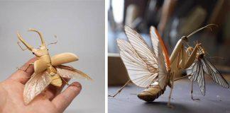 Hmyz z bambusu vyzerá ako živý | Noriyuki Saitoh