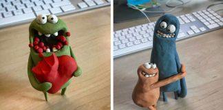 Vo voľnom čase tvorí veselé postavičky z plastelíny | Rich Webber