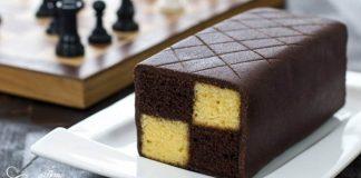 Battenberg koláč | Čokoládovo-mandľový šachy dezert z Anglicka