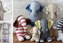 Ponožkový slon | DIY nápad na handmade hračku - sloníka z ponožiek
