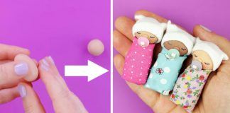 Miniatúrne bábätko z polymérovej hmoty | Kreatívny DIY nápad a návod
