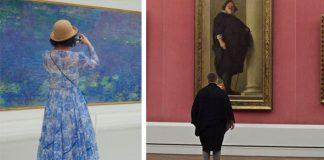 Stefan Draschan fotí ľudí v galériách, ktorí náhodou ladia s obrazmi