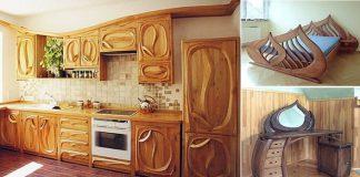 Drevený nábytok očaruje ľudí oblými prvkami | Piotr Wojtanowski