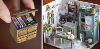 Miniatúrny nábytok a jedlo do domčekov pre bábiky spod rúk Kiyomi
