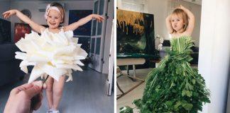 """Kreatívna maminka """"oblieka"""" svoju dcérku do ovocia, zeleniny či kvetov"""