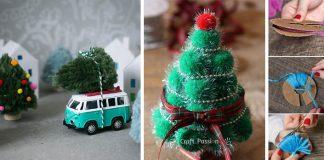 Vianočné stromčeky z brmbolcov | DIY nápady na brmbolcové stromčeky