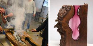 Sklenené vázy v kmeňoch stromov | Scott Slagerman a Jim Fishman