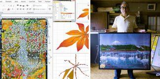 Tatsuo Horiuchi, 77-ročný umelec, tvorí úžasné obrazy v Exceli