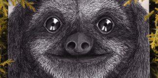 Kresby ohrozených zvierat v kombinácii s listami | Rohan Sharad Dahotre