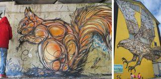 Frenetické maľby zvierat na múroch celého sveta | Dzia Swirl