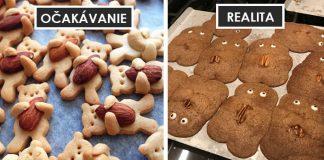 Očakávanie verzus realita v kuchyni pri varení a pečení rozhodne pobaví