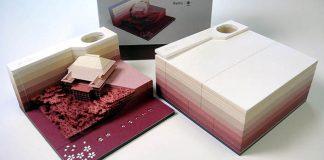 Poznámkové bloky Omoshiro trhaním odhaľujú skryté tajné objekty