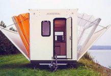 Rozkladací karavan, ktorý sa rázom mení na mobilný dom | De Markies