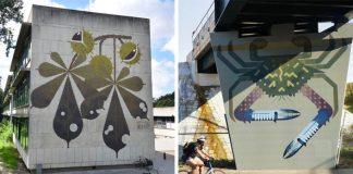 Murálne maľby inšpirované miestnou faunou a flórou od Amok Island