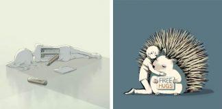 Trefné a poetické ilustrácie umelca Avogado6 vás prinútia zamyslieť sa!