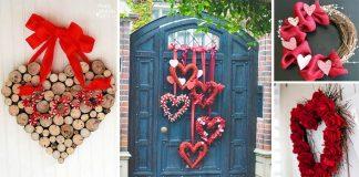 Valentínske vence | 25+ kreatívnych nápadov na valentínsky veniec