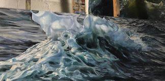 Phoebe Sonder na svojich maľbách zachytáva pohyb morských vĺn