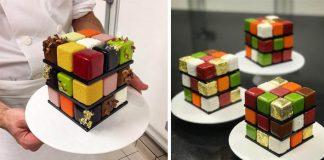 Rubikove torty dokazujú prečo je Cédric Grolet majstrom svojho remesla