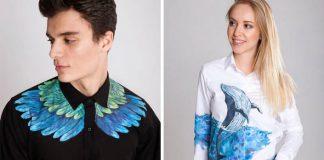 Ručne maľované košele | Handmade tvorba Daria Kulturmus