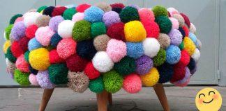 Brmbolcová taburetka z pneumatiky | Kreatívny DIY nápad a návod