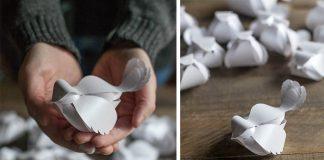 Papierový vtáčik | Kreatívny nápad a návod na papierové vtáčiky + šablóna
