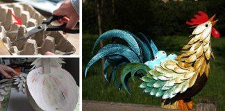 Kohút z obalu na vajíčka | DIY nápad a návod na veľkonočnú dekoráciu