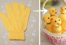 Kuriatka z rukavice | Kreatívny nápad s návodom na veľkonočnú dekoráciu