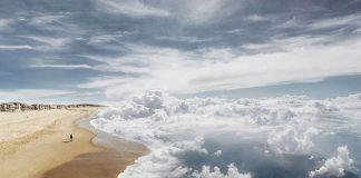 Laurent Rosset | Fotomontáže, keby sme mohli plávať v oblakoch
