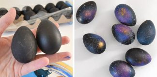 Netradičné veľkonočné vajíčka ozdobené galaxiou | DIY nápad s návodom