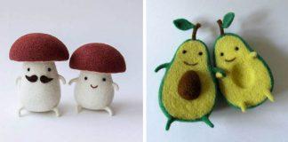 Hanna Dovhan ručne vyrába tie najrozkošnejšie plstené miniatúry jedla