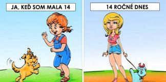 14 ilustrácií ukazuje rozdiely v detstve dnešných detí a našom detstve