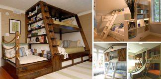 Poschodové postele | 35 nápadov na poschodové postele nielen pre deti
