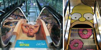 Eskalátorové reklamy | 15 kreatívnych reklám na eskalátoroch