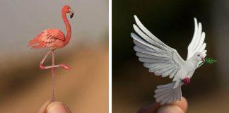 Vtáky vyrezané z papiera | Každý deň v roku jeden papierový vtáčik
