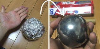 Dokonalá guľa z alobalu | Tento DIY návod otestuje vašu trpezlivosť