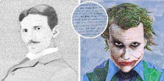 Phil Vance trávi stovky hodín tvorbou portrétov z rukou písaného textu
